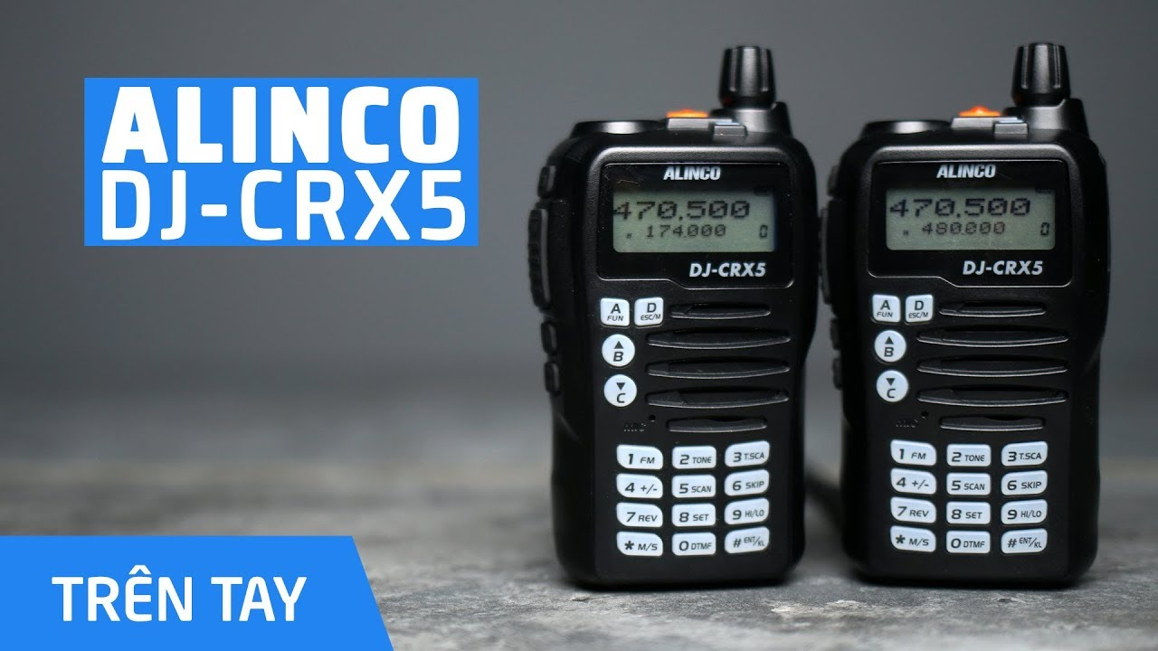 Bộ Đàm Cầm Tay Alinco DJ CRX5 V/UHF